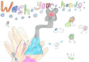 Our 'wash your hands' posters!
